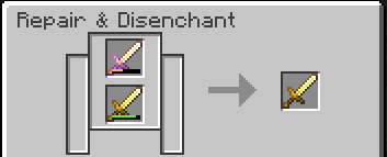 Combining two golden swords into one, adding the durability of each to the final result